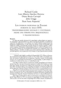 Los pueblos indígenas de Panamá durante el siglo XVI