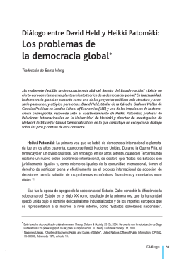 Los problemas de la democracia global*