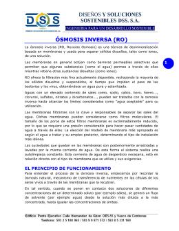 ÓSMOSIS INVERSA (RO)