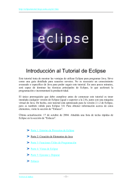 Introducción al Tutorial de Eclipse