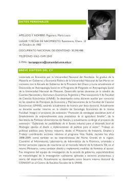 Descargar CV completo en  - Centro de Estudios Sociales