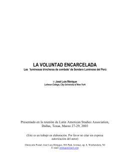 LA VOLUNTAD ENCARCELADA - Centro de Documentación de los