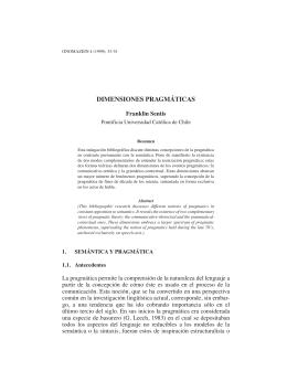 Dimensiones pragmáticas