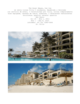 The Royal Mayan, Can Cun se renta lujosa Villa 2