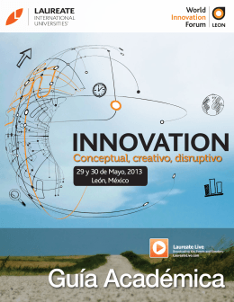 World Innovation Forum 2013. Guía académica