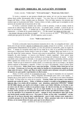 ORACIÓN DIRIGIDA DE SANACIÓN INTERIOR