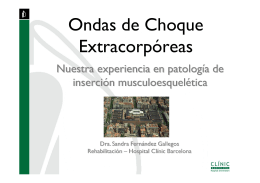 Ondas de Choque Extracorpóreas