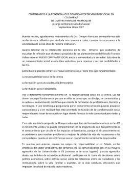 comentarios a la ponencia ¿qué significa responsabilidad social en