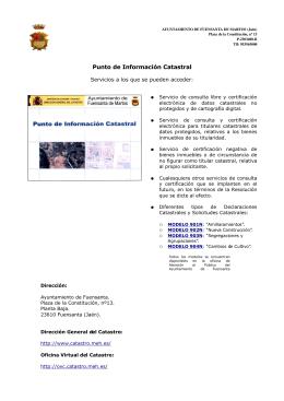 Punto de Información Catastral - Ayuntamiento de Fuensanta de