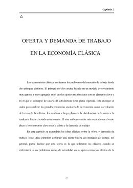 oferta y demanda de trabajo en la economía clásica