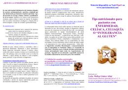 Orientación nutricional para niños con Intolerancia al Gluten o