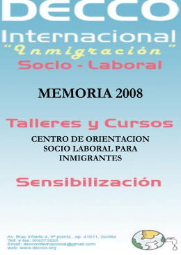 MEMORIA 2008 - DECCO Internacional