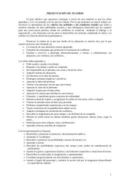REPRESENTACION DE TEATROS NAVIDAD