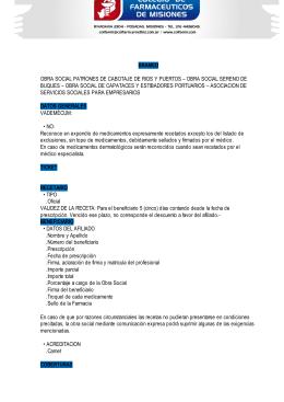 BRAMED OBRA SOCIAL PATRONES DE CABOTAJE DE RIOS Y