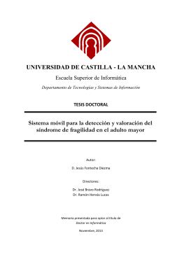 UNIVERSIDAD DE CASTILLA - Jesús Fontecha Website
