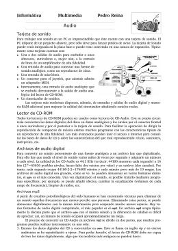 Informática Multimedia Pedro Reina Audio