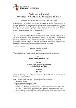 ASOCIACION DE ESCRIBANOS DEL URUGUAY