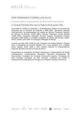 Don Fernando D`Ornellas Silva