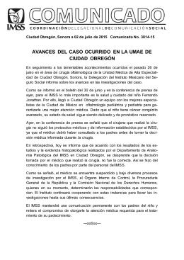 avances del caso ocurrido en la umae de ciudad obregón