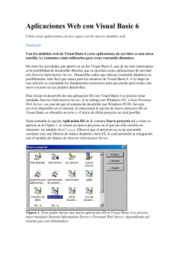 Aplicaciones web con Visual Basic 6