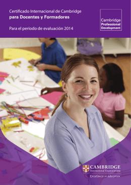 Certificado Internacional de Cambridge para Docentes y