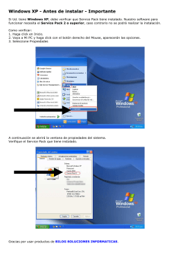 Windows XP - Antes de instalar - Importante