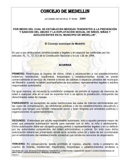 Por el cual se establece el Plan Desarme en Medellín