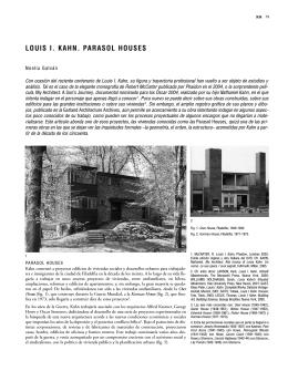 LOUIS I. KAHN. PARASOL HOUSES