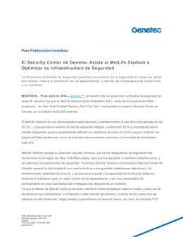 Genetec Synergis Master Controler Wins Access Control Product of