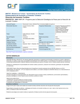 Ficha Informativa de Proyecto 2015 Subsecretaría