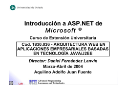 Introducción a ASP.NET de Microsoft ®