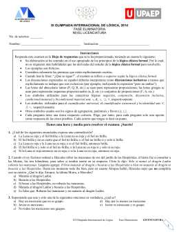 2014 Examen Licenciatura eliminatoria