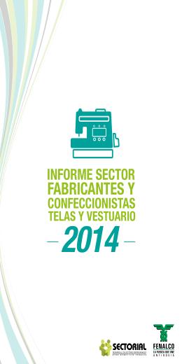 informe sector fabricantes y confeccionistas