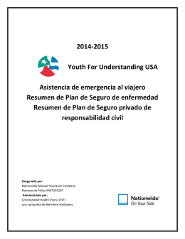 2014-2015 Youth For Understanding USA Asistencia de
