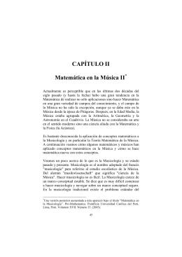 CAPÍTULO II Matemática en la Música II
