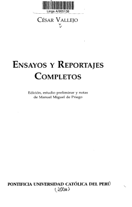 ENSAYOS Y REPORTAJES COMPLETOS