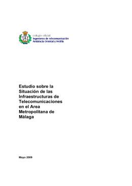 Informe Infraestructuras Telecom Area Metropolitana May 09