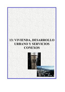 vivienda, desarrollo urbano y servicios conexos