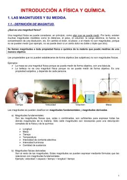 INTRODUCCIÓN A FÍSICA Y QUÍMICA.