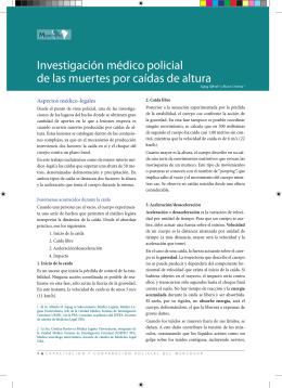 Investigación médico policial de las muertes por caídas