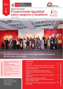 Promoviendo Igualdad entre mujeres y hombres, Abril 2014