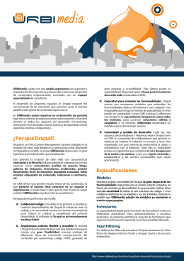 URBImedia - Drupal Brochure