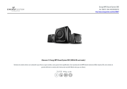 Energy MP3 Sound System 300 Altavoces 2.1 Energy MP3 Sound