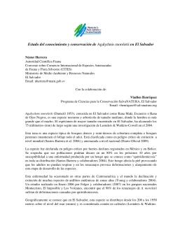 Estado del conocimiento y conservación en El Salvador de