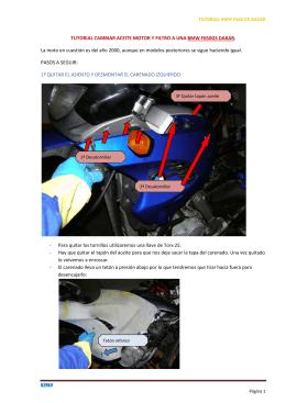 TUTORIAL CAMBIAR ACEITE MOTOR Y FILTRO A UNA BMW