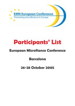lista completa de los participantes