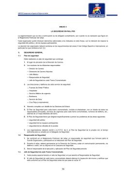 Protocolo Seguridad Rallyes - Real Federación Española de