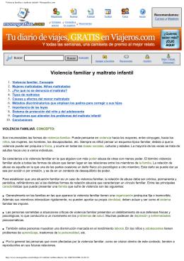 Violencia familiar y maltrato infantil- Monografias.com