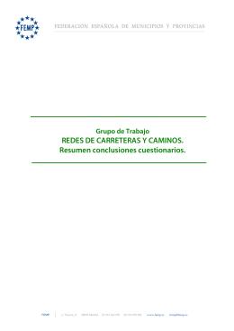 Conclusiones Estudio Redes de Carreteras