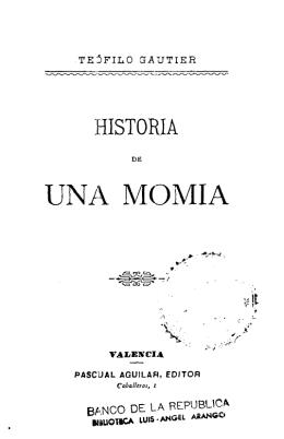 Historia de una momia - Actividad Cultural del Banco de la República